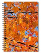 Sea Of Orange And Blue Spiral Notebook