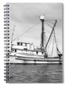 Purse Seiner Sea Queen Monterey Harbor California Fishing Boat Purse Seiner Spiral Notebook