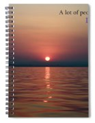 Sea Quote - Cousteau Spiral Notebook