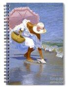 Sea Shell Pink Spiral Notebook