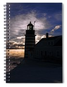 Sea Smoke At West Quoddy Head Lighthouse Spiral Notebook