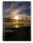 Sea Smoke Panorama Spiral Notebook