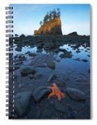 Sea Stacks And Star Fish Spiral Notebook