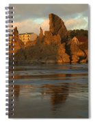 Sea Stacks And The City Spiral Notebook