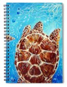 Sea Turtles Swimming Towards The Light Together Spiral Notebook