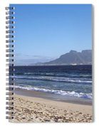 Sea With Table Mountain Spiral Notebook