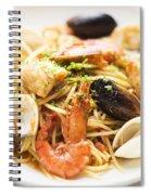 Seafood Pasta Dish Spiral Notebook