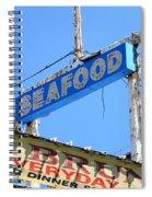 Seafood Sign Spiral Notebook