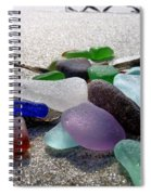 Seaglass And Seaweed Spiral Notebook
