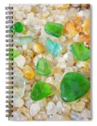 Seaglass Green Art Prints Agates Beach Garden Spiral Notebook