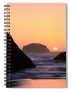 Seagull And Sunset Spiral Notebook
