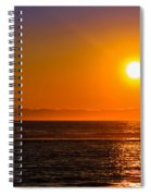 Seagull At Sunset Spiral Notebook