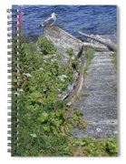 Seagull Steps Guard Island Alaska Spiral Notebook