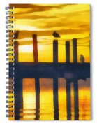 Seagull Sunset Spiral Notebook