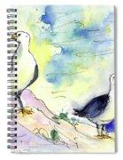 Seagulls In Calpe In Spain Spiral Notebook