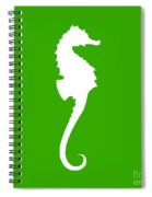Seahorse In Green And White Spiral Notebook