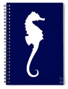 Seahorse In Navy And White Spiral Notebook