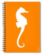 Seahorse In Orange And White Spiral Notebook