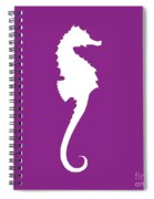 Seahorse In Purple And White Spiral Notebook