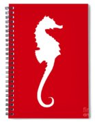 Seahorse In Red And White Spiral Notebook