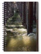 Seal Beach Pier Surf Spiral Notebook