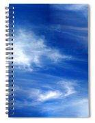 Seamless Background Sky Spiral Notebook