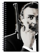Sean Connery James Bond Square Spiral Notebook