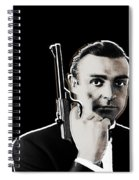 Sean Connery James Bond Vertical Spiral Notebook