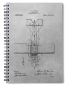 Seaplane Patent Drawing Spiral Notebook