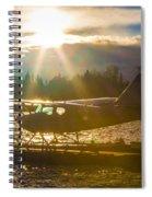 Seaplane Sunset Spiral Notebook