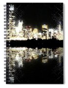 Sears Tower Dominated Skyline Lake Reflection  Spiral Notebook