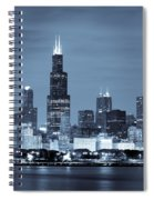 Sears Tower In Blue Spiral Notebook