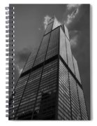 Sears Willis Tower Black And White 01 Spiral Notebook