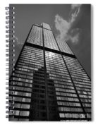Sears Willis Tower Black And White 02 Spiral Notebook