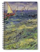 Seascape At Saintes-maries 1888 Spiral Notebook