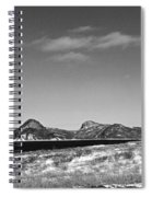Seascape - Panorama - Black And White Spiral Notebook