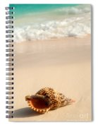 Seashell And Ocean Wave Spiral Notebook