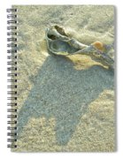 Seashell And Shadow On Sand Spiral Notebook