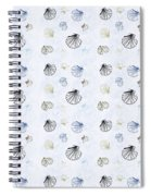 Seashell Pattern Spiral Notebook