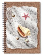 Seashell Pearls And Water Drops Collection Spiral Notebook