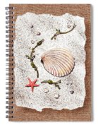 Seashell With Pearls Sea Star And Seaweed  Spiral Notebook