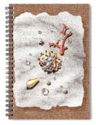 Seashells Coral Pearls And Water  Drops Spiral Notebook