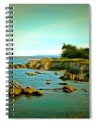 Seaside In The Distance Digital Spiral Notebook