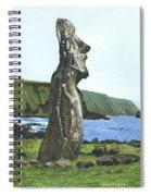 Seaside Moai Spiral Notebook