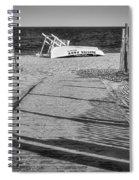 Seaside Park New Jersey Shore Bw Spiral Notebook