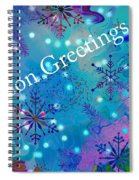 Season Greetings - Snowflakes Spiral Notebook
