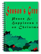 Seasons Greeting Spiral Notebook