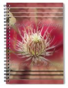 Season's Greetings From Our House To Yours Card Spiral Notebook