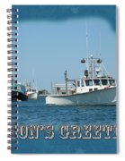 Season's Greetings Holiday Card - Boats In Peaceful Harbor Spiral Notebook