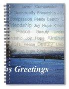 Seasons Greetings Wishes Spiral Notebook